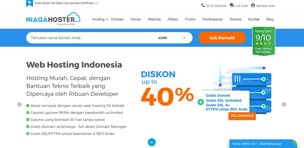 Review Layanan Hosting & Domain