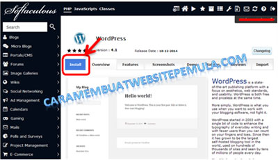 installasi wordpress