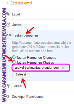 Cara Setting URL Artikel Blog Agar LebihSEO Friendly